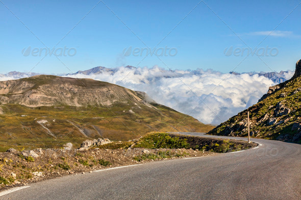 High Altitude Road  - Stock Photo - Images