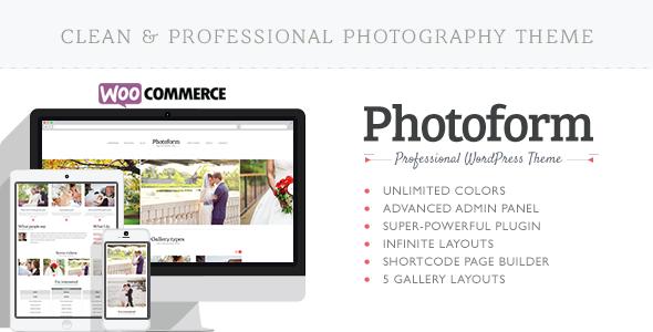 ThemeForest Photoform Photography WordPress Theme 7142115
