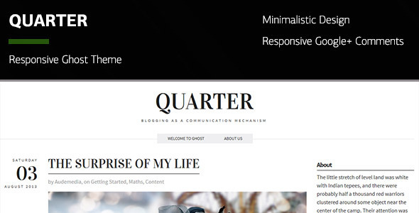 Quarter - Responsive Ghost Theme - Ghost Themes Blogging