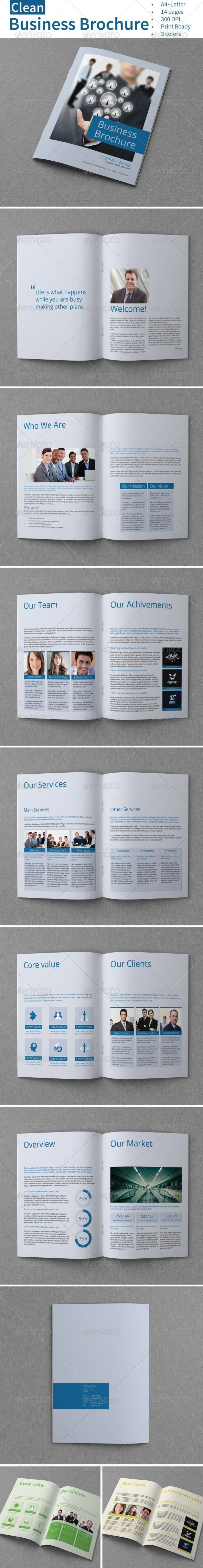 GraphicRiver Clean Business Brochure 7163514
