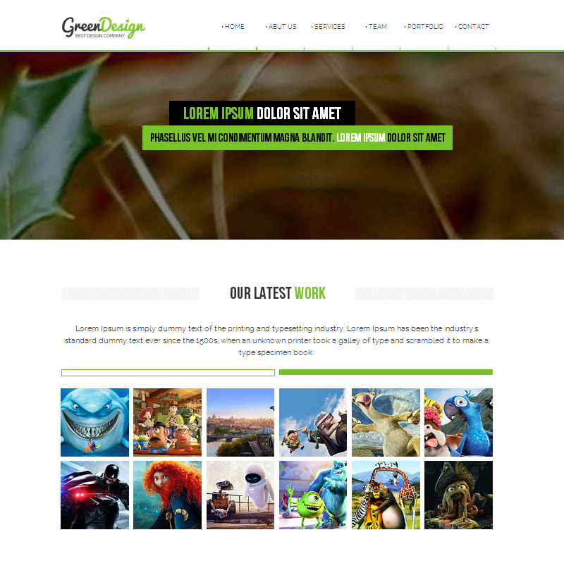 Green Design Company / Corporate Muse Theme