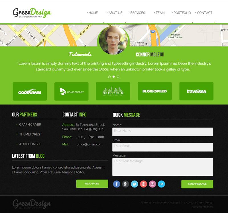 Green Design Company / Corporate Muse Theme