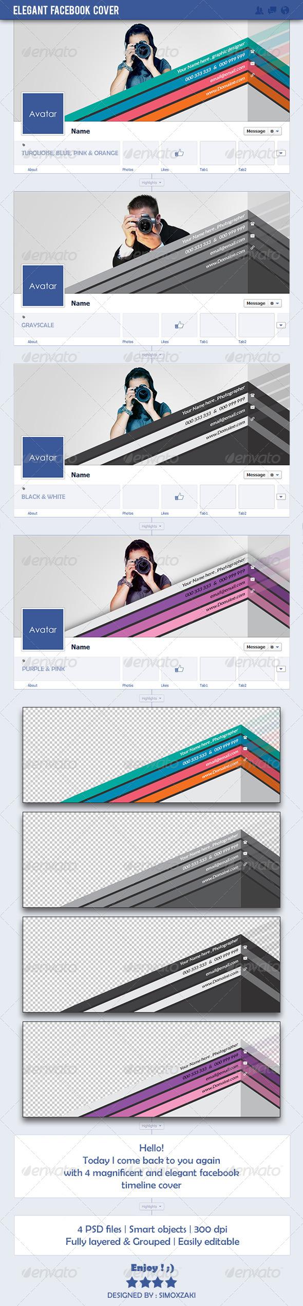 GraphicRiver Elegant facebook Cover 7203816