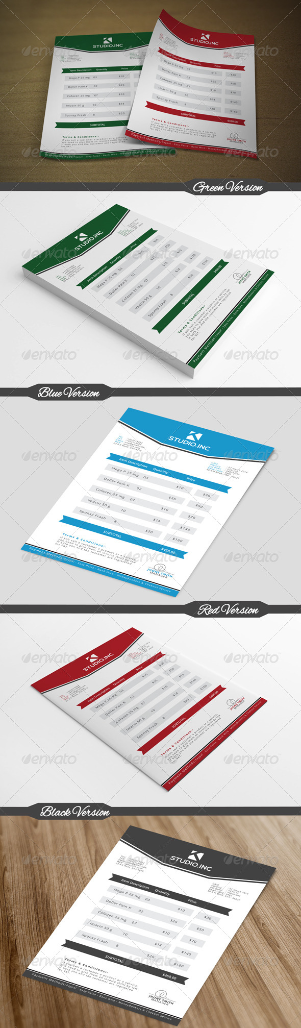 GraphicRiver Simple & Clean Invoice 7170535