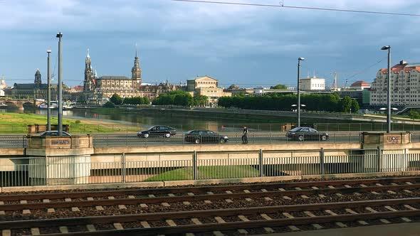 Dresden City - Train Window - Kaupunki Arkistofilmit