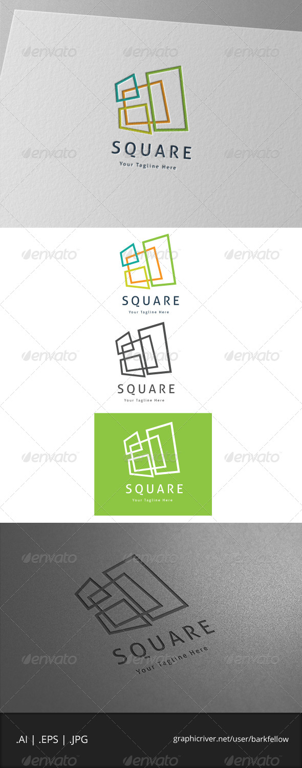 GraphicRiver four square box logo 7004431