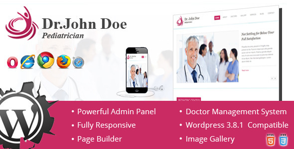 ThemeForest Dr Doe Responsive One-Page Wordpres Theme 7204735