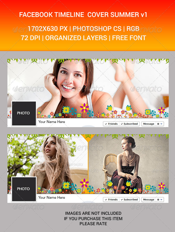 GraphicRiver Facebook Timeline Cover Summer v1 7205115