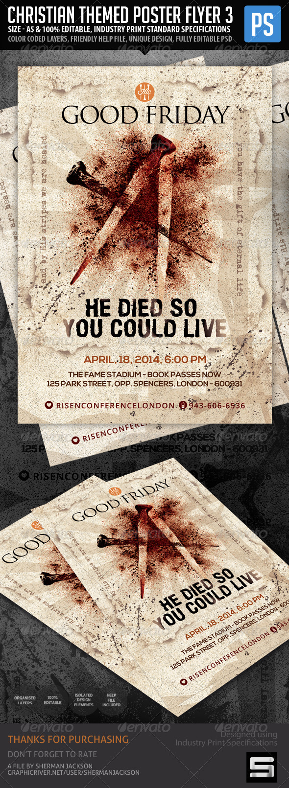 Church Christian Themed Poster Flyer Vol.3