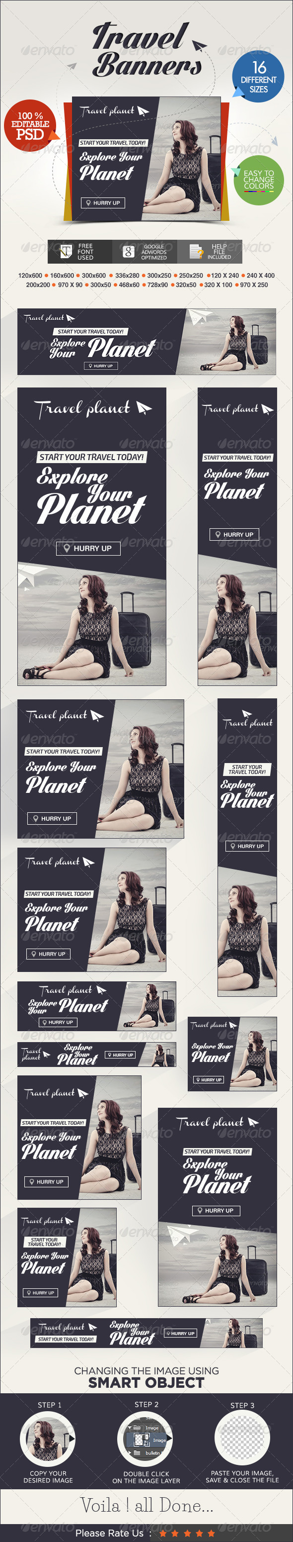 GraphicRiver Travel Banner Set 7206237
