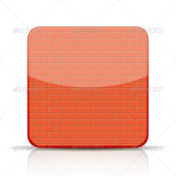 Red Brick App Icon on White Background
