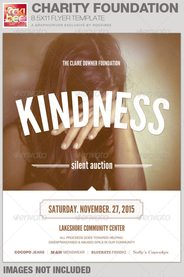GraphicRiver Charity Foundation Event Flyer Template 7178112