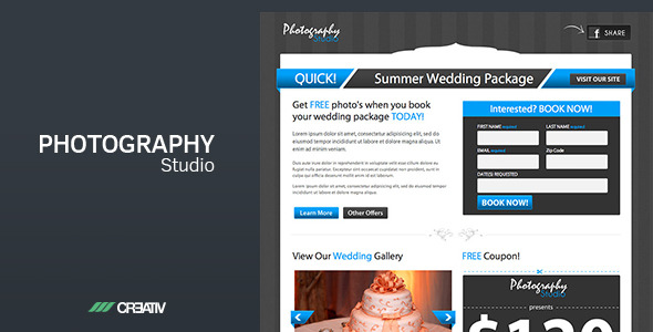 Photography Studio Landing Page