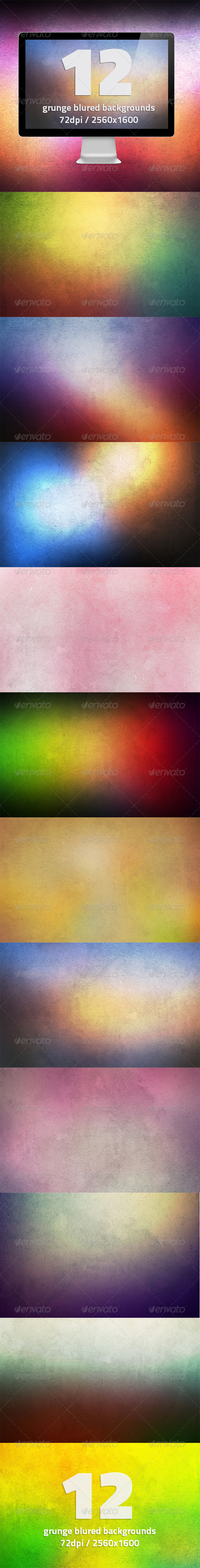 12 HQ Grunge Blurred Backgrounds Vol.2