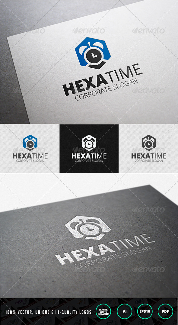 Hexa Time Logo Template