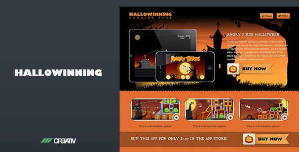 Hallowinning Landing Page