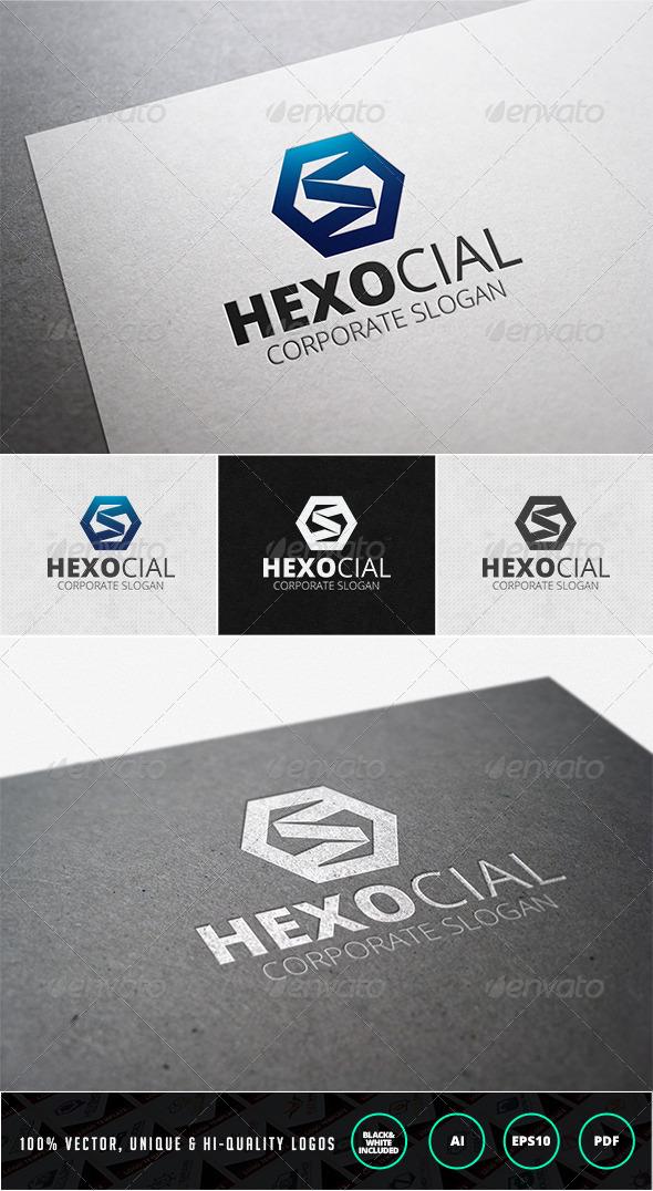 Hexocial Logo Template