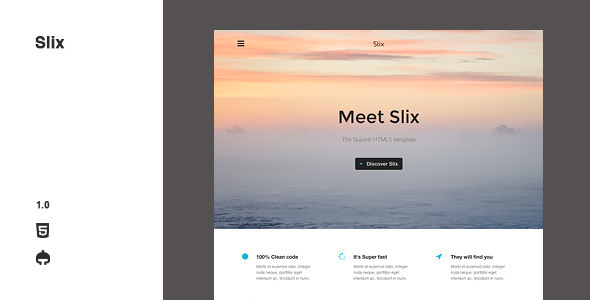 Slix - Responsive Multipurpose HTML5 Template - Marketing Corporate