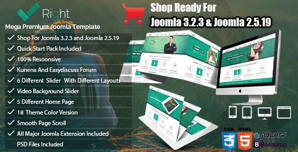 ThemeForest Right Multipurpose & Shop Joomla Template Bundle 7157057