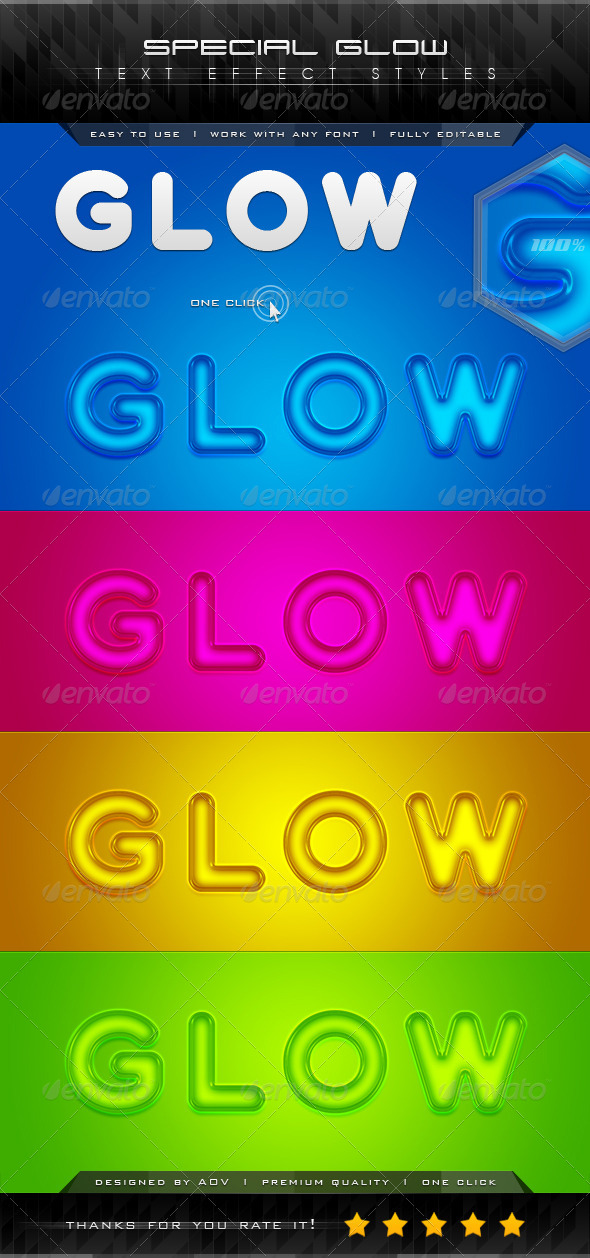 GraphicRiver Special Glow Text Effect Styles 7209663
