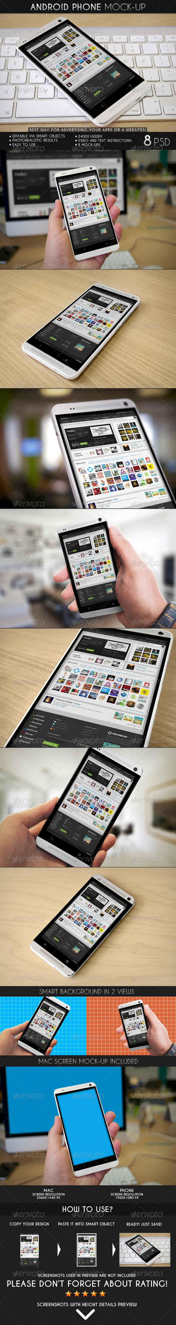 GraphicRiver Android Phone Mock-Up 7209703