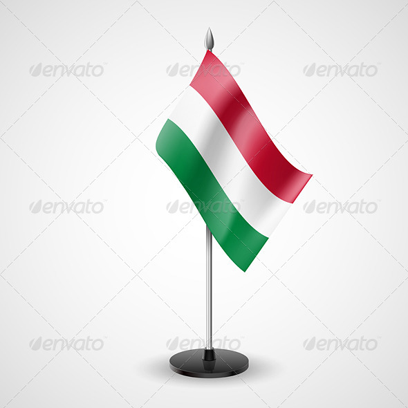 Table Flag of Hungary