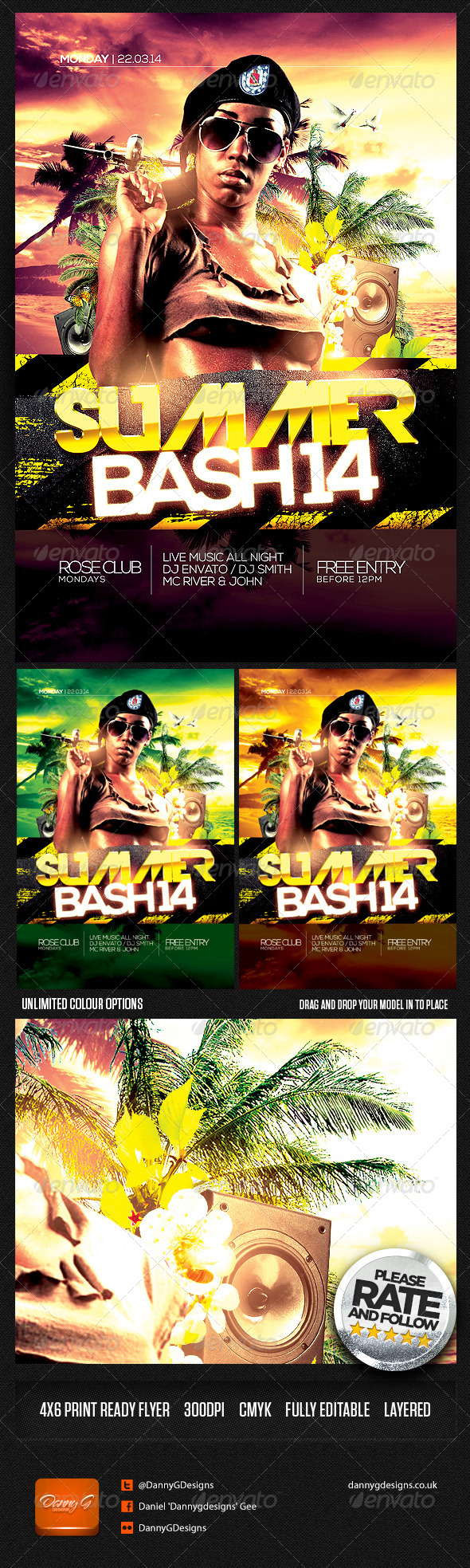 GraphicRiver Summer Bash 14 Flyer Template PSD 7195989