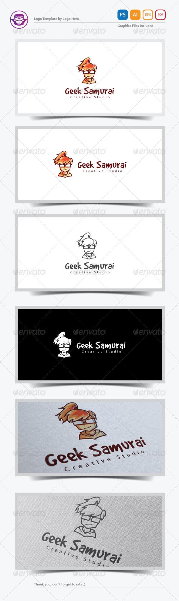 Geek Samurai Logo Template