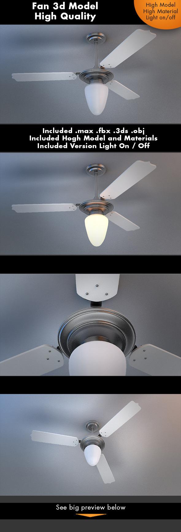 Fan 3d Model - 3DOcean Item for Sale