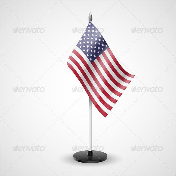 Table Flag of USA