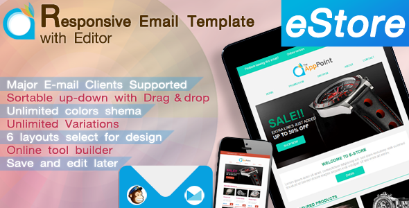 eStore - Responsive Email Template with Editor