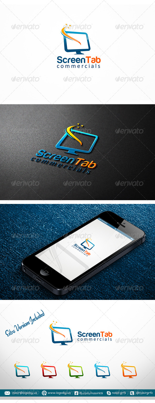 LCD Screen Logo - Objects Logo Templates
