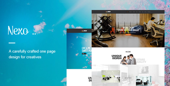 ThemeForest Nexo One page PSD Template 7173908