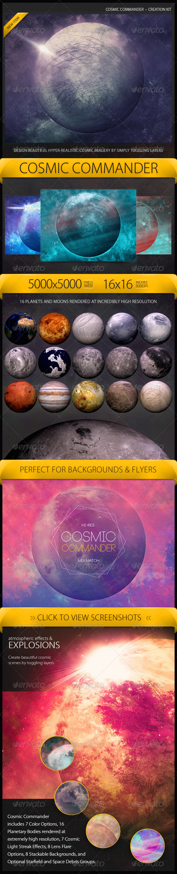GraphicRiver Cosmic Commander Creation Kit 7213260