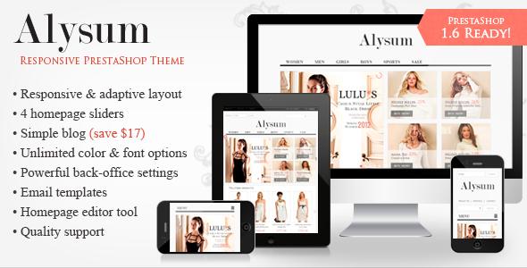 Alysum - Premium Responsive PrestaShop 1.6 Theme - Shopping PrestaShop