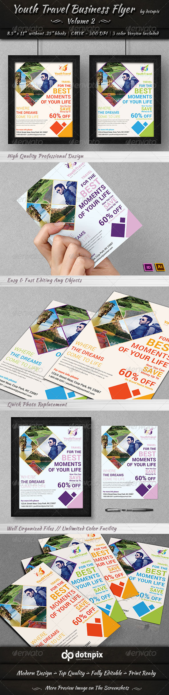 Travel Tourism Business Flyer Volume 3