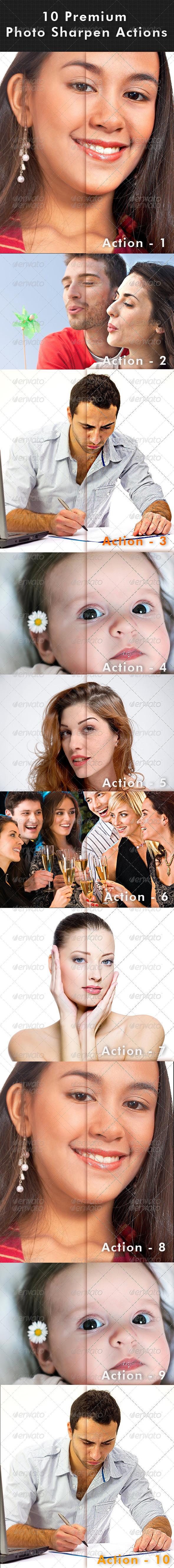 GraphicRiver 10 Premium Photo Sharpen Actions 7214763