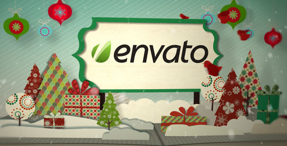 Holiday Pop Up Book Logo Opener