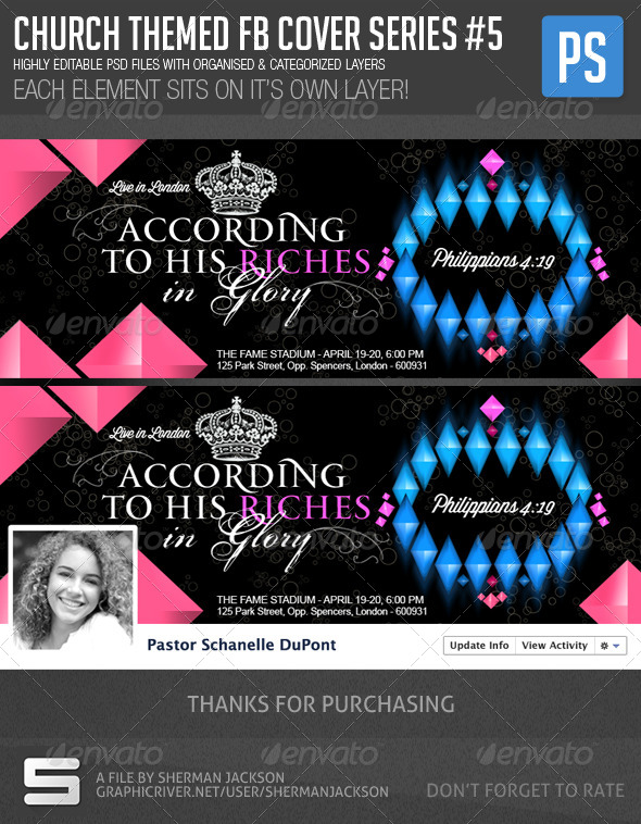 GraphicRiver Church Christian Themed FB Cover Series #5 7215771