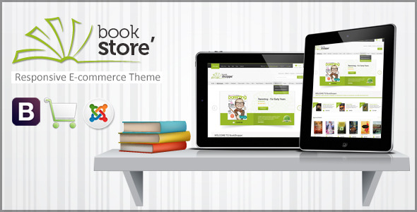 Book Store Responsive Joomla Shopping Cart Theme