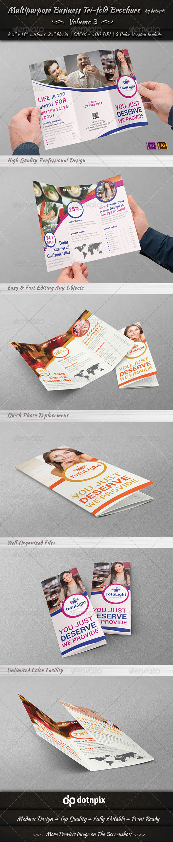 Multipurpose Business Tri-Fold Brochure Volume 3