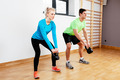 Kettlebell workout for two