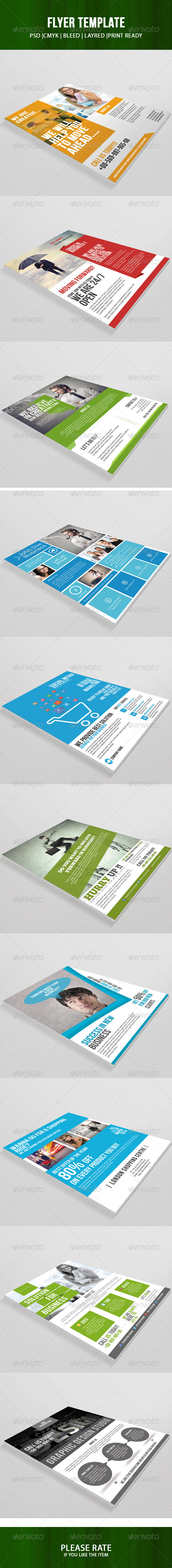 10 Flyer Template Bundle