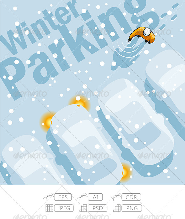 Winter Parking - People Characters