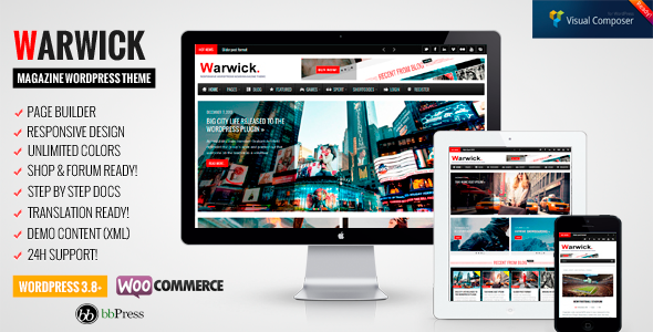 Warwick - Responsive News/Magazine WordPress Theme