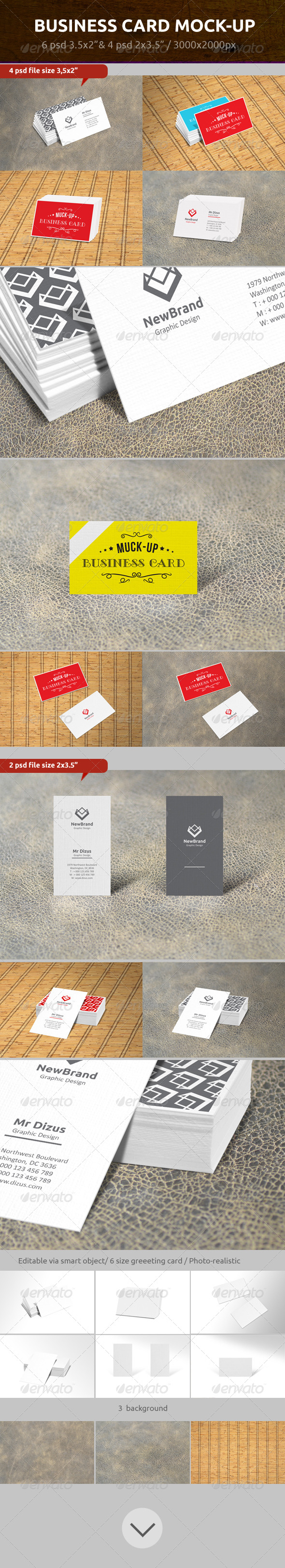 GraphicRiver Business Card Mock-Up 7214399