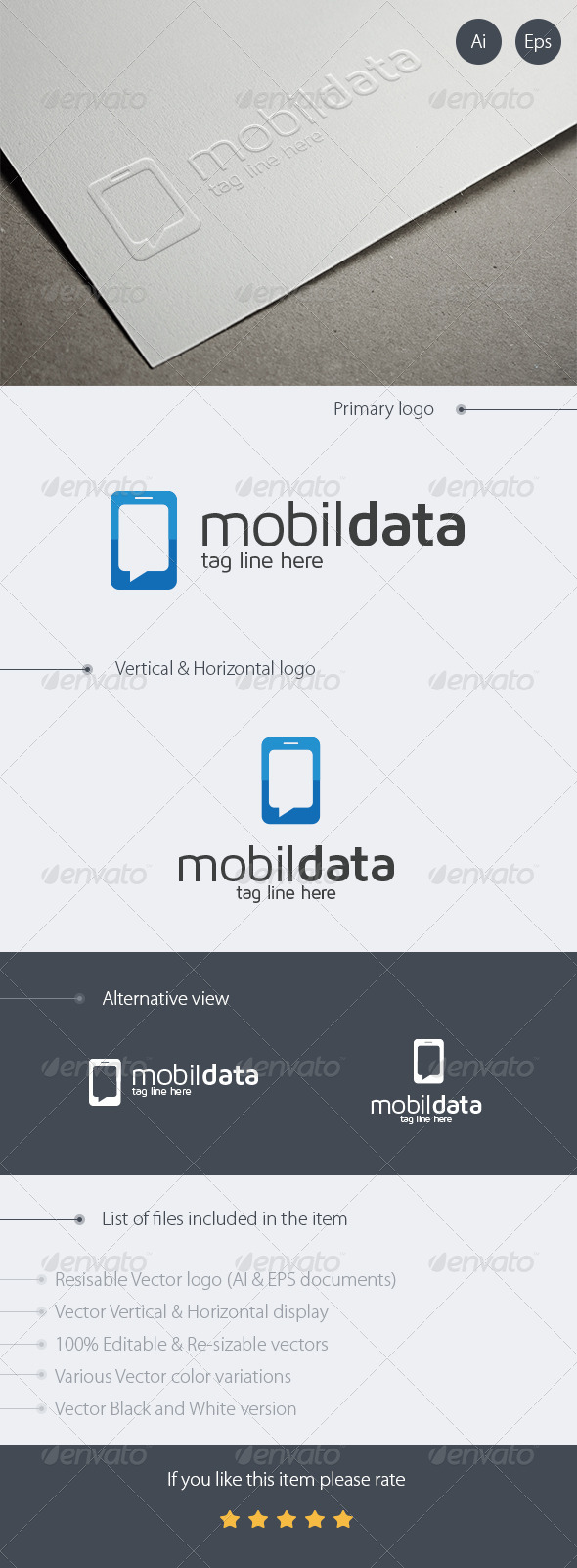 Mobile Data Logo Design