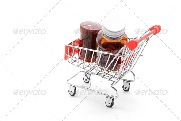medicine shopping - Stock Photo - Images