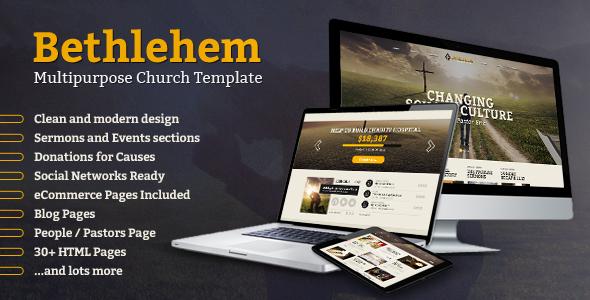 ThemeForest Bethlehem Church Bootstrap 3 HTML5 Template 7190059
