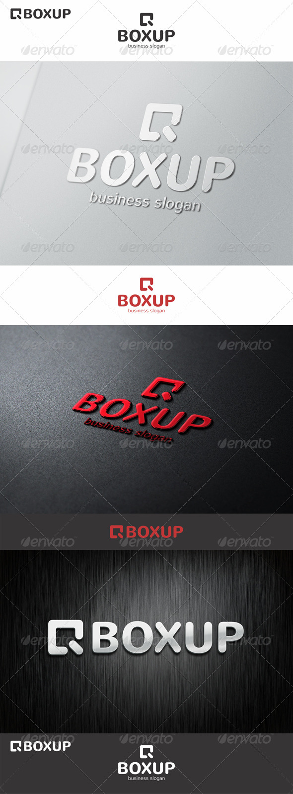 Box Up Logo Arrow - Symbols Logo Templates